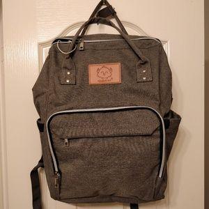 Handbags - NWT Gray Diaper Backpack